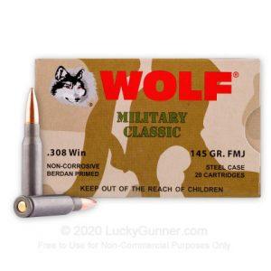 308 - 145 Grain FMJ - Wolf WPA