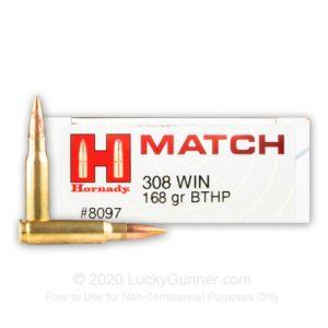308 - 168 Grain BTHP - Hornady Match