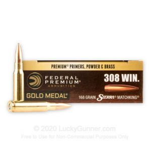 308 - 168 Grain HP-BT - Federal Premium Sierra Match King