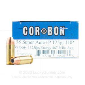 38 Super 125 Grain +P JHP Carbon Ammo