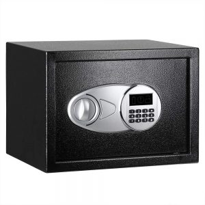 AmazonBasics Steel Security Safe Lock Box