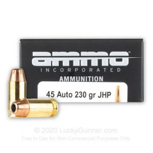 Ammo Inc. Signature 230 Grain JHP- 45 ACP- 20 Rounds