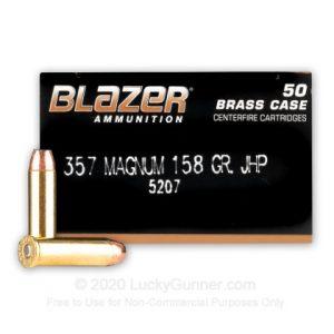 BlazerBrass Designed 50 Rounds 357 Mag 158 Gr JHP