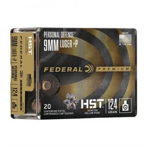Federal Premium 9mm +P Luger HST Ammos