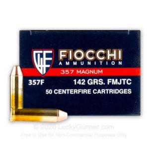 Fiocchi Designed 142 Grain FMJ 357 Mag 1000 Rounds