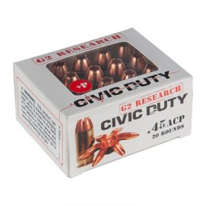 G2 Research 45 ACP Ammo Civic Duty