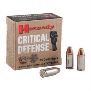 Hornady 115Gr FTX 9mm Ammos Critical Defense