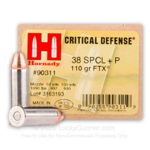 Hornady Critical Defense 38 Special 25 Rounds