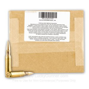 Lake City 7.62x51mm - 149 gr FMJ M80