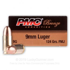 PMC Bronze 124 Gr 9mm Luger Ammo