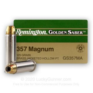 Remington Golden Saver 25 Rounds 125 Grain JHP 357 Mag