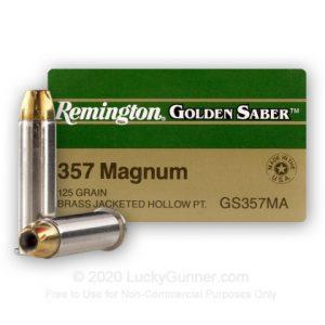 Remington Golden Saver 25 Rounds 125 Grain JHP 357 Mag