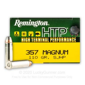 Remington HTP 110 Grain SJHP 50 Rounds 357 Mag