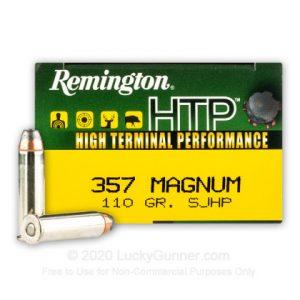 Remington HTP 110 Grain SJHP 50 Rounds 357 Mag