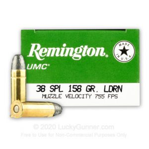 Remington UMC 158 Grain LRN 50 Rounds 38 Special