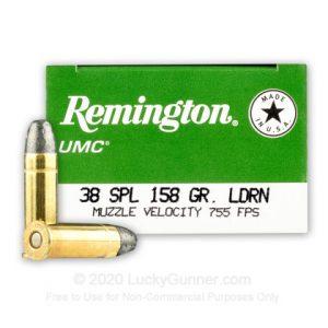 Remington UMC 158 Grain LRN 50 Rounds 38 Special
