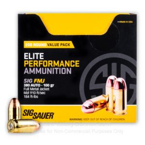 SIG Sauger 200 Rounds Best 380 Ammo