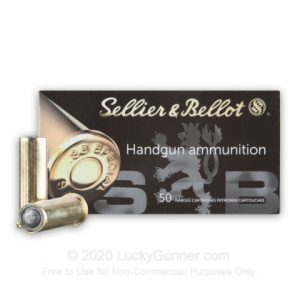 Sellier & Bellot 50 Rounds 148 Gr Lead Wadcutter 38 Special