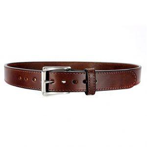 Steel Core Reinforced Leather Gun Belt