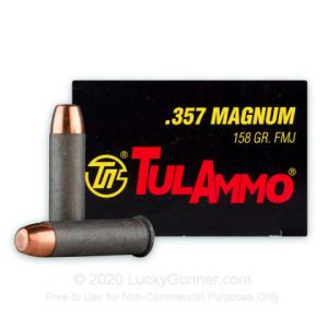 Tula 50 rounds 158 Grain FMJ 357 Mag