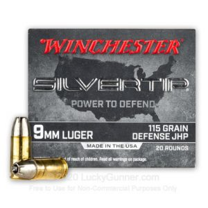 Winchester Silvertip 9mm Rounds