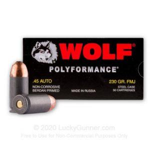Wolf WPA Best 45 ACP Ammo